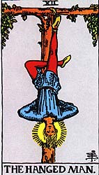 Image result for THE HANGED MAN RIDER WAITE