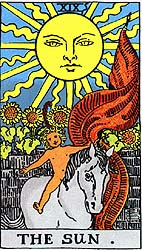 Image result for the sun card tarot rider waite